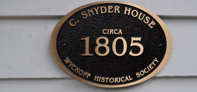 Historic House Plaques